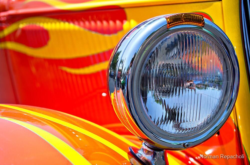 One Flaming Headlight by Norman Repacholi