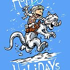 Calvin and Hoth - Holiday card by DJKopet