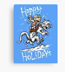 Calvin and Hoth - Holiday card Canvas Print