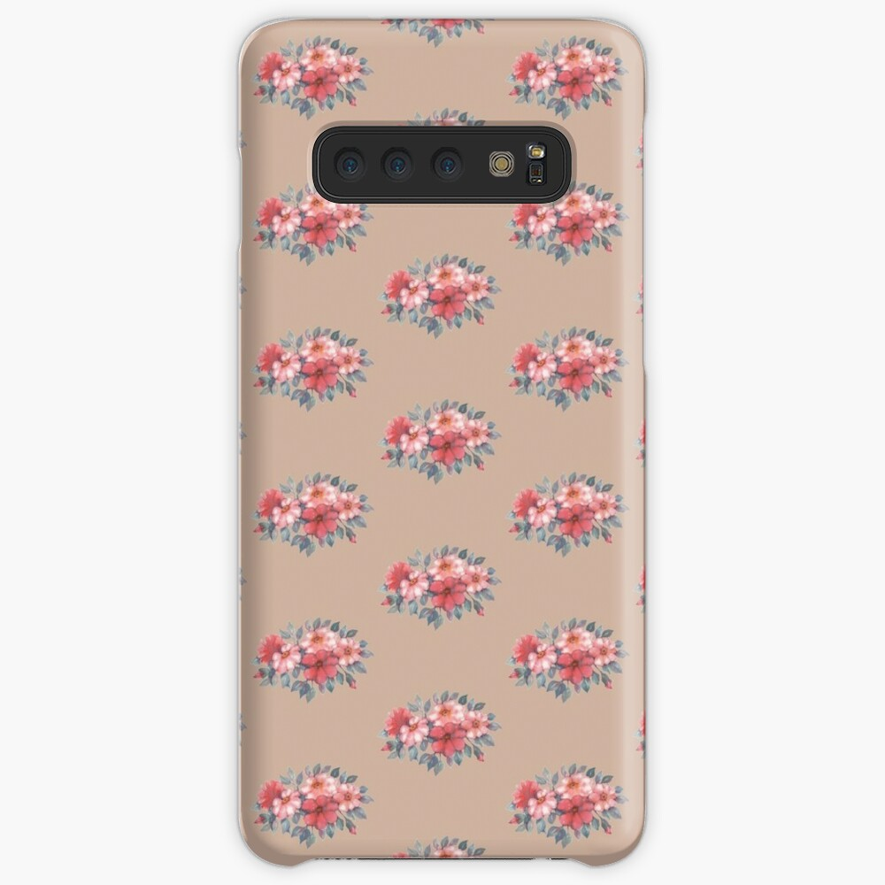 Red watercolor flowers arrangement Case & Skin for Samsung Galaxy
