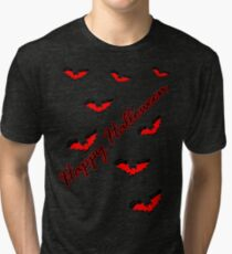 Happy Halloween bats vector art Tri-blend T-Shirt