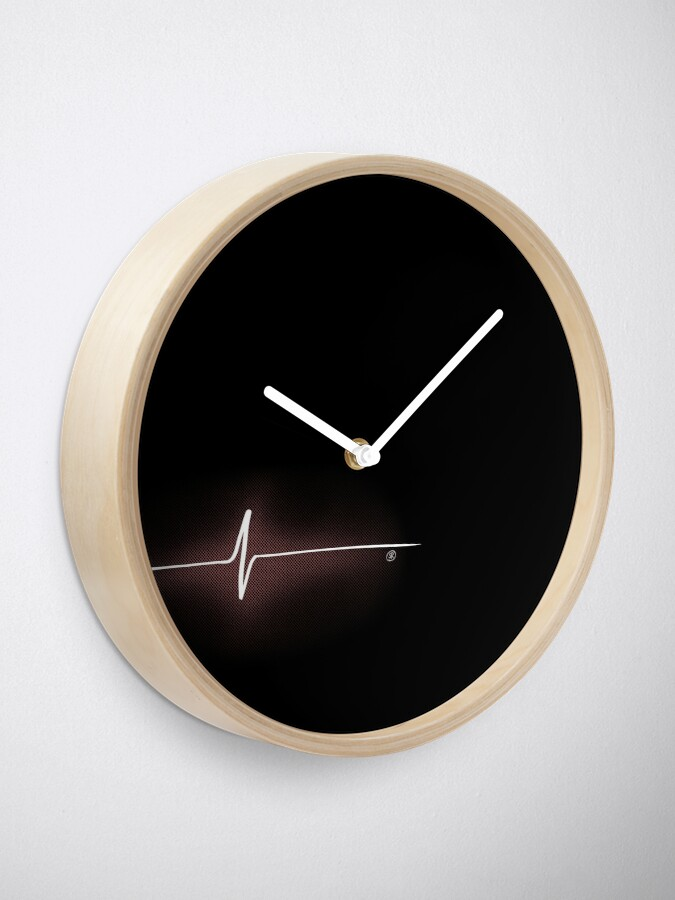 Alternate view of Heart Impulse (Black) Clock