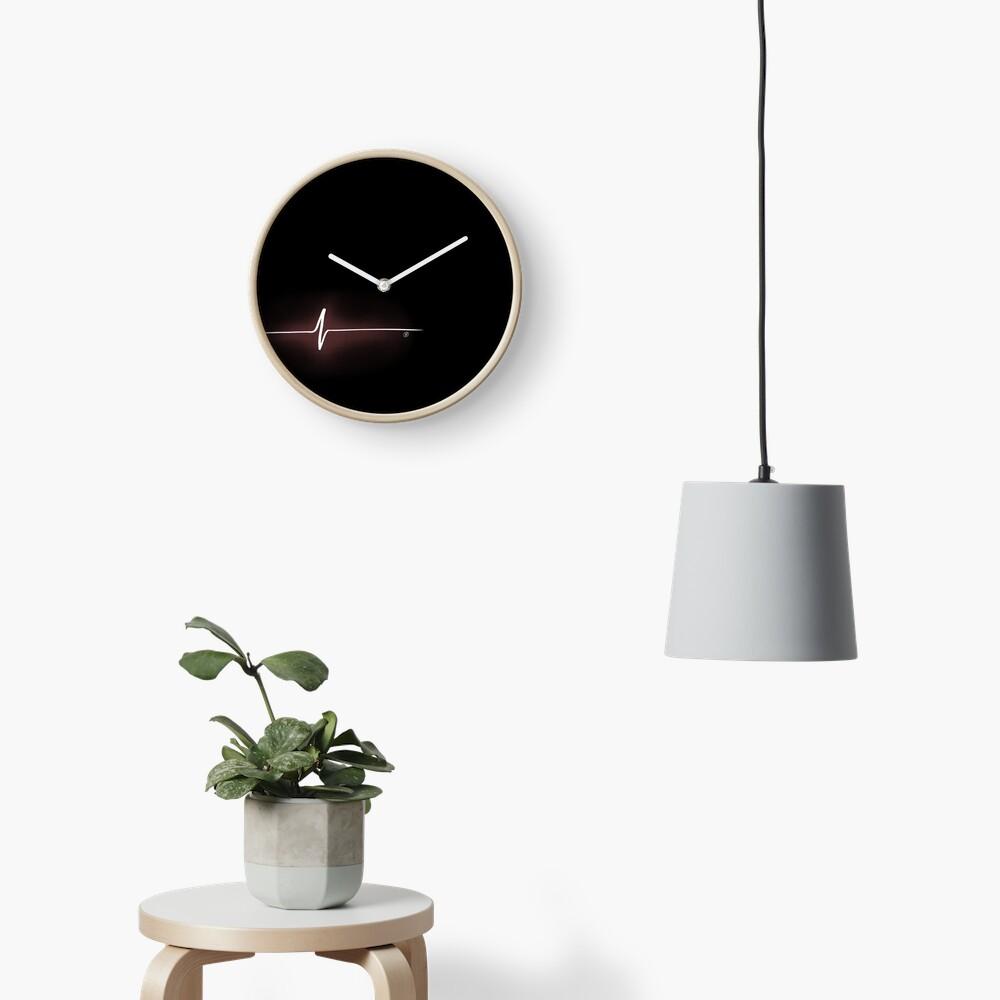Heart Impulse (Black) Clock