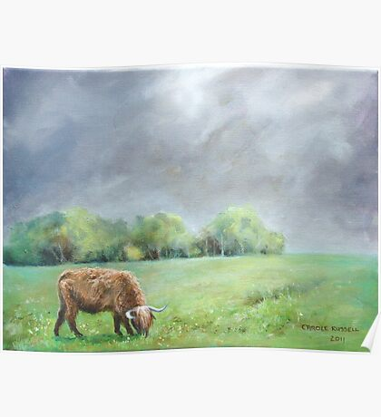 Big hairy cow (what storm??) Poster