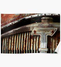 Rusty Thornycroft Diesel Poster