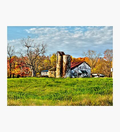 Sunrise Farm  Photographic Print