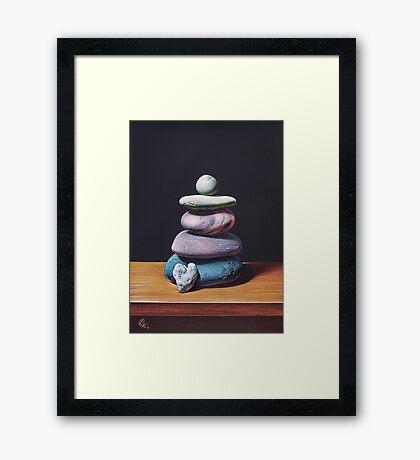 """Stone tower 2"" Framed Print"