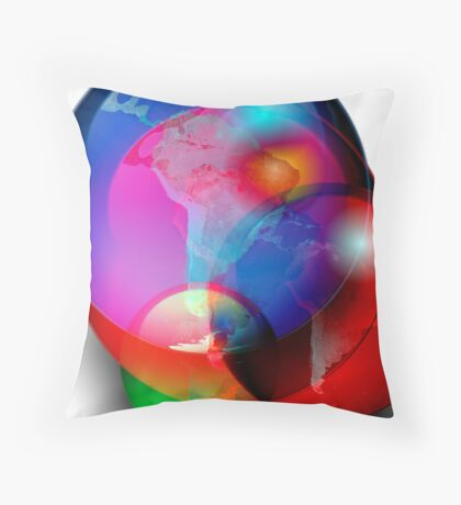 Worlds in Collision Throw Pillow
