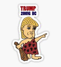 Funny Donald Trump Caveman Political Art Sticker