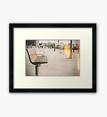 Bench. Framed Print