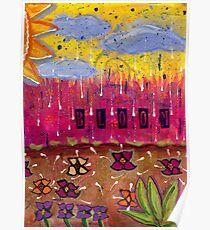 Raindrops on Petals Poster