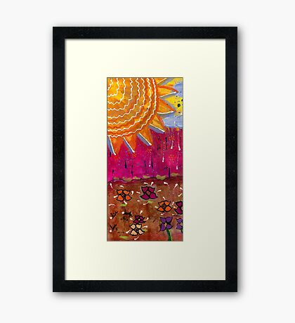 Sunshine and Rain Framed Print