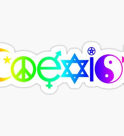 Coexist Rainbow Sticker