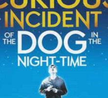 Playbill for Curious Incident of the Dog in the Night time Sticker