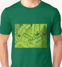 Bright green leaves and small acacia with dew drops T-Shirt
