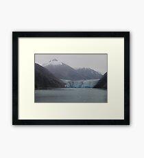 Sawyer Glacier in Tracy Arm Fjord in Alaska .... Framed Print