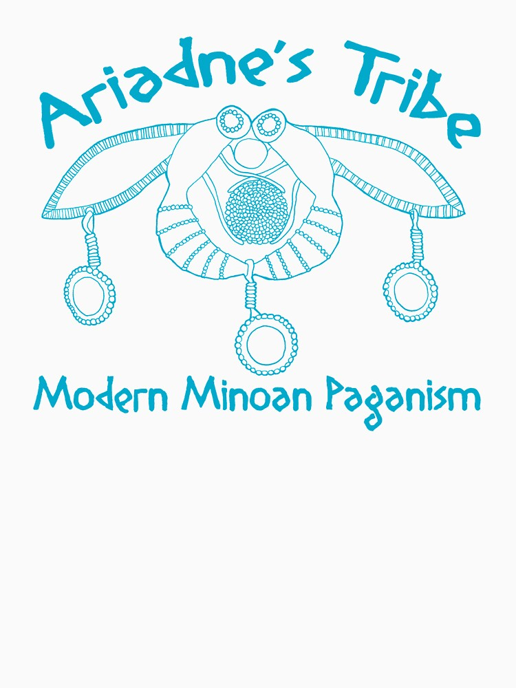Modern Minoan Paganism Official Logo in Aegean Blue by MsLauraPerry