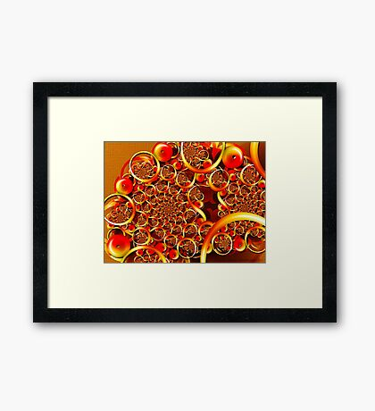 Autumn Feast (Fibonacci Julia) Framed Print