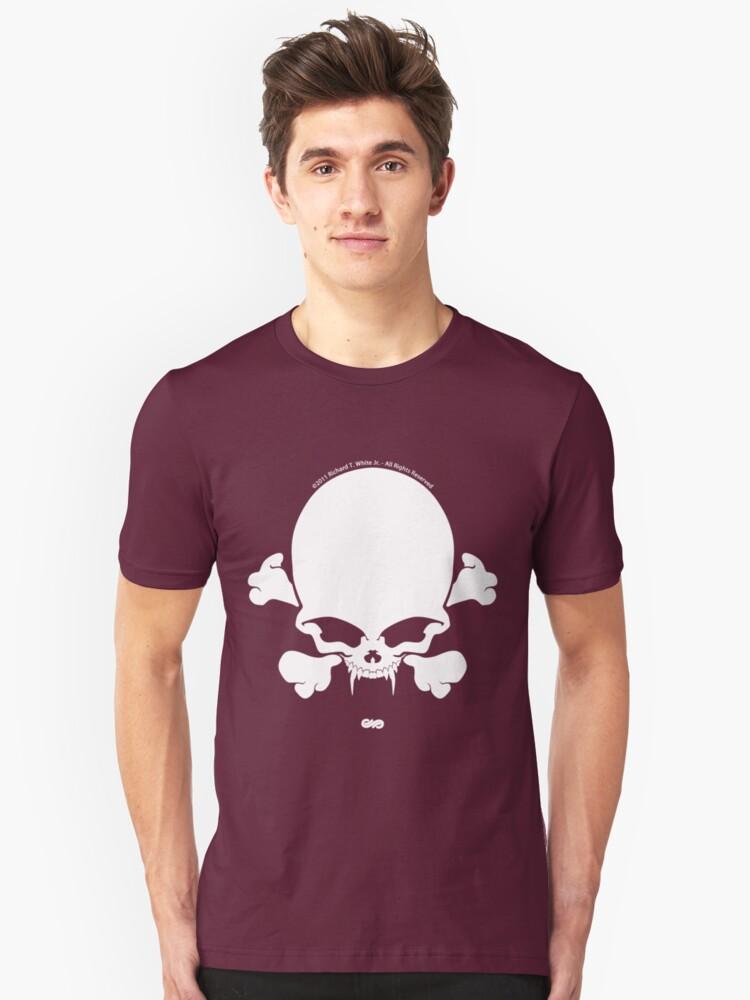 Jolly-Vamp: White Unisex T-Shirt Front