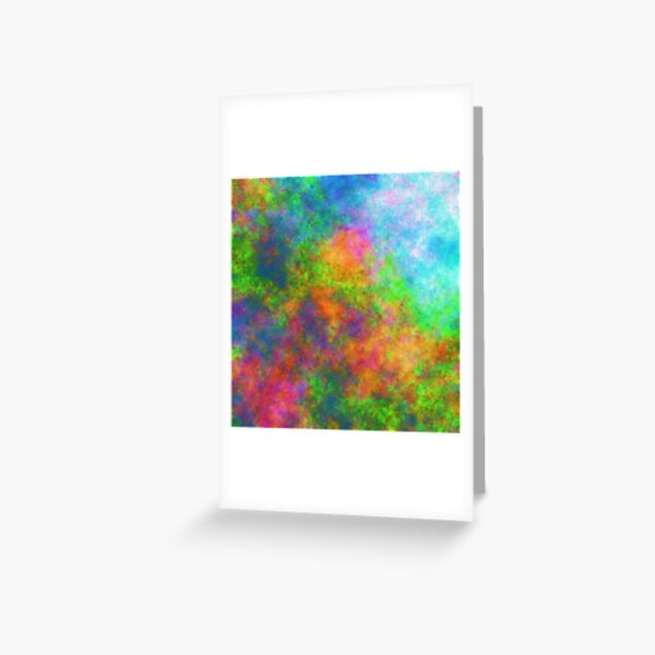Abstraction of underwater forest Greeting Card