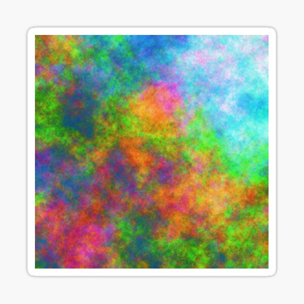 Abstraction of underwater forest Glossy Sticker
