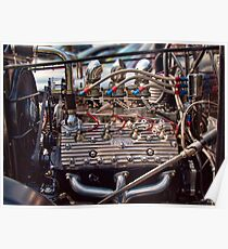 Flathead V8 Engine Poster