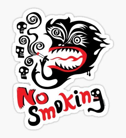 No Smoking - monster Sticker