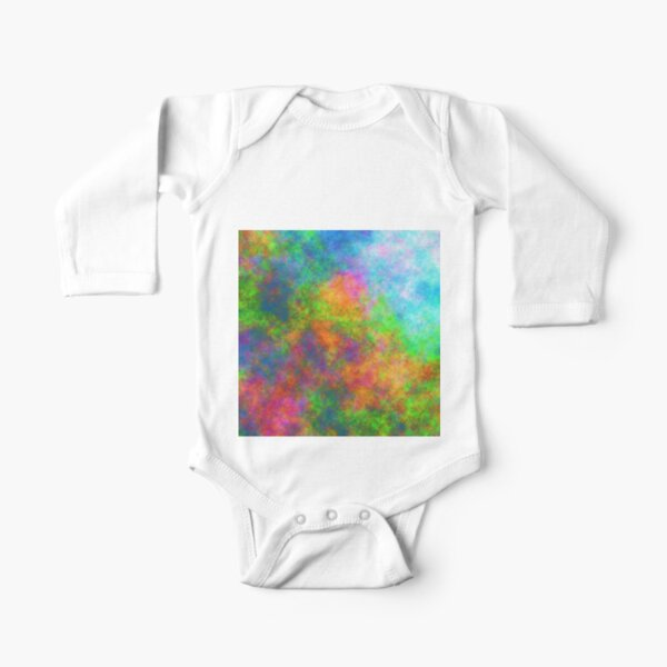 Abstraction of underwater forest Long Sleeve Baby One-Piece