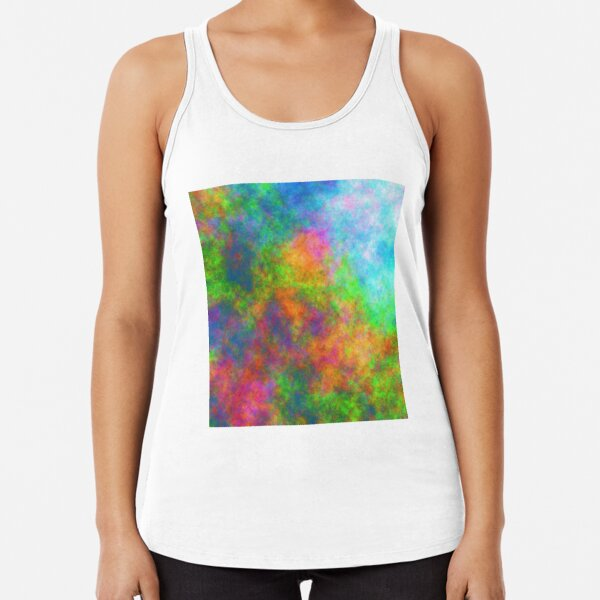 Abstraction of underwater forest Racerback Tank Top