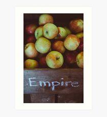 Empire Apples Art Print