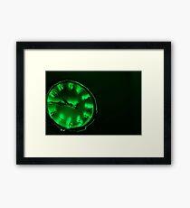 Clock Work - Green Framed Print