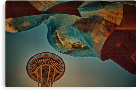 USA. Seattle. Space Needle & Museums. by vadim19