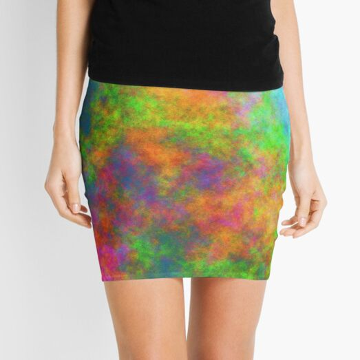 Abstraction of underwater forest Mini Skirt