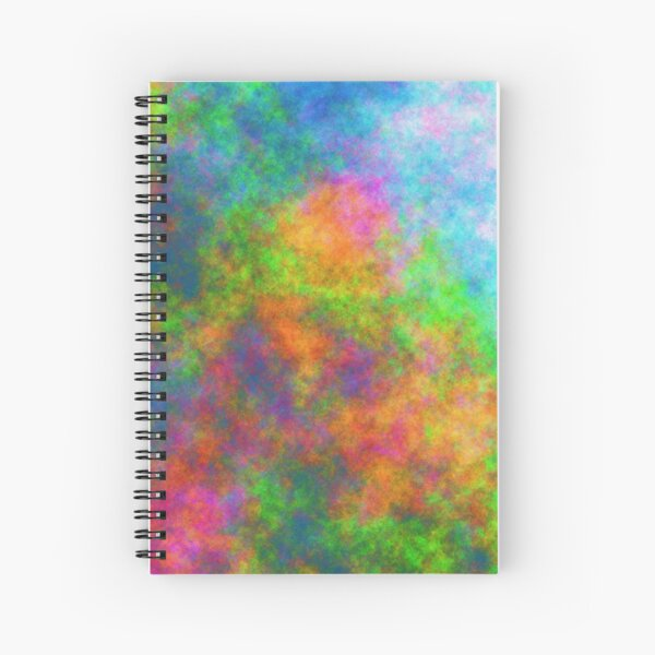 Abstraction of underwater forest Spiral Notebook