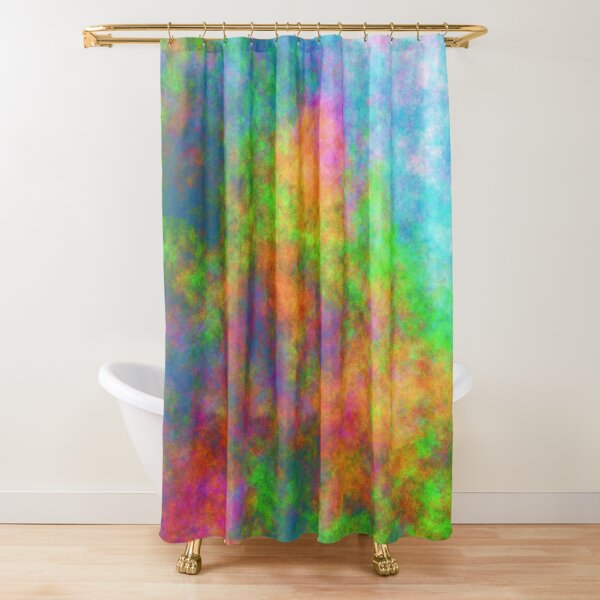 Abstraction of underwater forest Shower Curtain