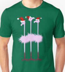 Three Christmas Flamingos  Unisex T-Shirt