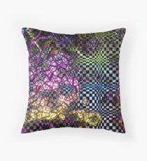 80s Abstract Cyclone Throw Pillow