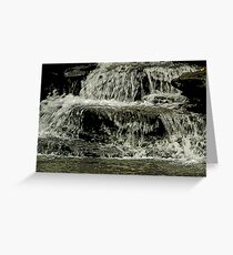 Flowing over Greeting Card