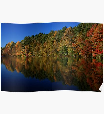 Autumn Reflection of Colors Poster