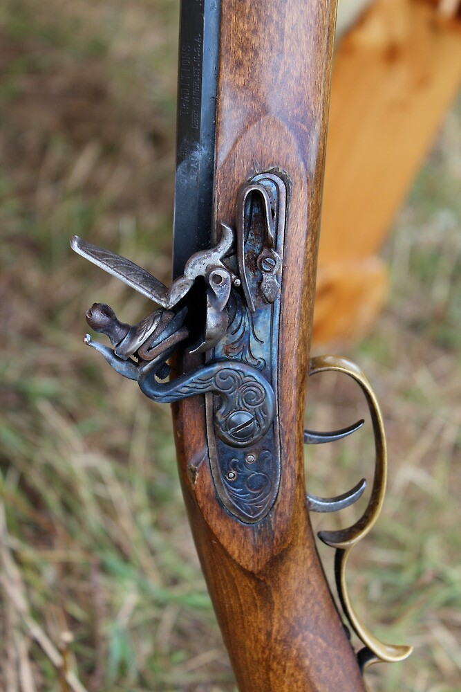 Flintlock rifle by Christina Adams
