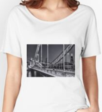 Tower Bridge, London at night. Women's Relaxed Fit T-Shirt