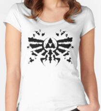 Hyrule Rorschach Women's Fitted Scoop T-Shirt