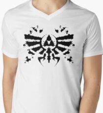 Hyrule Rorschach Men's V-Neck T-Shirt