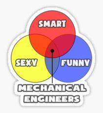 Venn Diagram - Mechanical Engineers Sticker