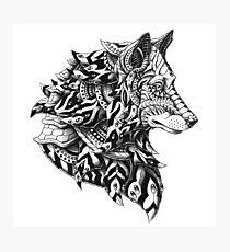 Wolf Profile Photographic Print