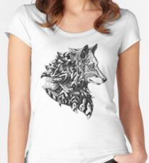 Wolf Profile Women's Fitted Scoop T-Shirt