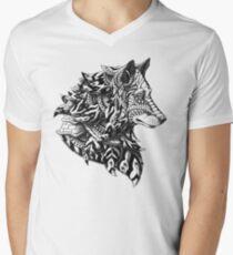 Wolf Profile Men's V-Neck T-Shirt