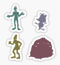Natives - Oddworld Coloured Silhouettes Sticker