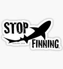 Ocean4 Stop Finning Logo Sticker