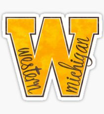 Western Michigan W Sticker